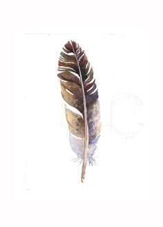 50 OFF  Original Feather Painting by EcoProduct on #Etsy