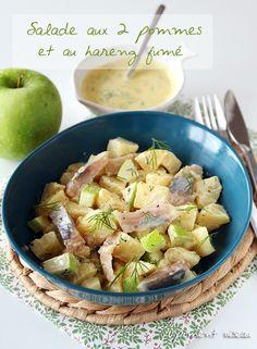 Salade aux deux pommes et au hareng fumé - Potato and apple salad with smoked herring