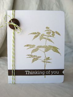 """clean + simple card using the """"kissing"""" stamp technique"""