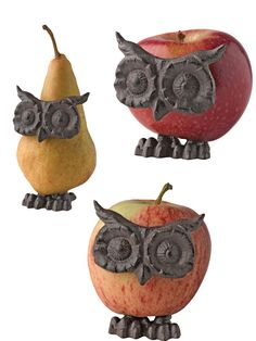 owl fruit decorations - bahahah!