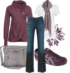 Love plum and grey together...