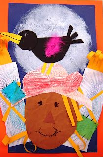 For the Love of Art: 2nd Grade: Scarecrow Texture Collage