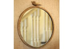Round Iron Mirror With Bird    $36.00@http://www.antiquefarmhouse.com/current-sale-events/romantic-country.html