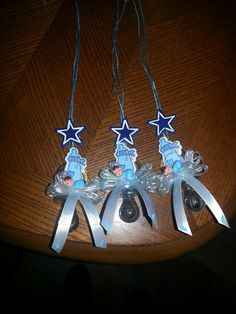 dallas cowboys babyshower centerpiece