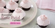Frosting Skills: Beautiful Rose Petal Cupcakes!    Learn how to make these adorable rose petal details on your next batch of #cupcakes!
