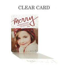 Merry Wonder - Clear #Holiday Cards by Jill Smith for Tiny Prints in Bright Red