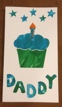 Birthday card made from kids fingerpaintings