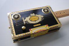 Partagas Black Label Cigar Box Guitar, 4 String by Will Thompson