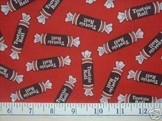 Rare TOOTSIE ROLL Fabric at FABRIC4YOU