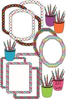 CLIP ART - WRITE ON! MIX AND MATCH PAPER/FRAME COLLECTION - Includes papers too! $ TeachersPayTeachers.com