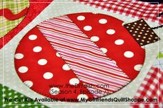 Adorable Christmas quilt block.  Adaptable for pillows, table runners, wall hangings, etc.