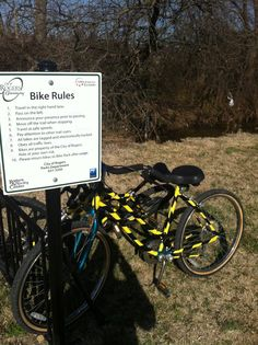 Did you know that in the summer the Blossom Way Trailhead has refurbished bikes for public use? The bikes are provided by the NWA Emerging Leaders Community Bike Program.