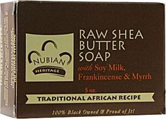 Nubian Heritage Bar Soap Raw Shea Butter with Frankincense and Myrrh.......the most gorgeous scent...wonderful for dry skin...Tried all varieties...recommend them all. soaps, heritag bar, raw shea, nubian heritag, bar soap, soap raw, shea butter