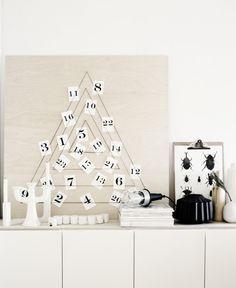 DIY modern Christmas calendar