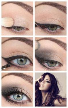 Smokey eye for green eyes-