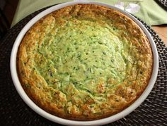 Zucchini Casserole   Gina's Weight Watcher Recipes  Servings: 12 servings • Old Points: 2.5 pts • Points+: 3 pts  Calories: 110.2 • Fat: 6.2 g • Carb: 10.6 g • Fiber: 1.2 g • Protein: 3.7 g