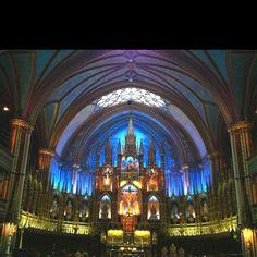 Basilica de Notre Dame in Montreal, Quebec