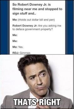 robert downey jr - if I ever meet him