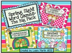 Spring Sight Word Games-The Big Pack $