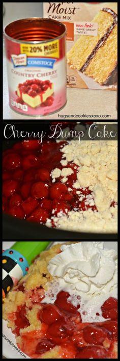 Slow Cooker Cherry Dump Cake - Hugs and Cookies XOXO