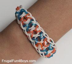 Tic Tac Toe Rainbow Loom Bracelet Tutorial