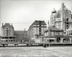 The Atlantic City Boardwalk. Historical Photo Archive :: The Dennis: 1908