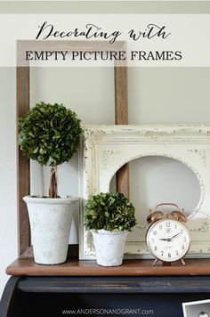 Check out this collection of ideas for using empty picture frames in your decor. | www.andersonandgrant.com