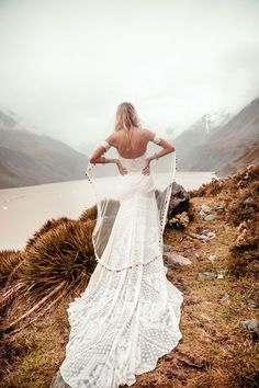 Rue De Seine wedding dress for a beach wedding | Pin discovered by Kelly's Closet bridal boutique in Atlanta, Georgia