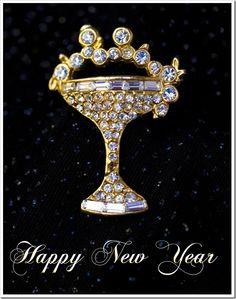 Champagne Glass Brooch