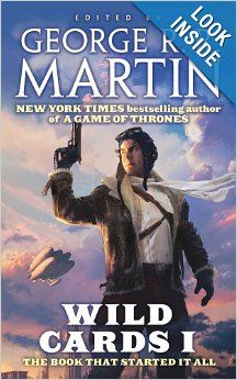 Wild Cards I: Wild Cards Trust by George R.R. Martin.  Cover image from amazon.com.  Click the cover image to check out or request the science fiction and fantasy kindle.