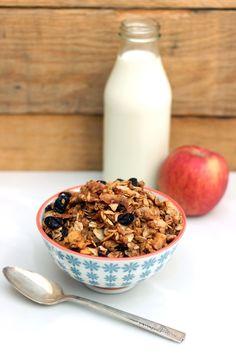 Apple Spice Granola (#GlutenFree & #Vegan)