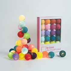Lovely colored ball lights // Kit Tao Tong