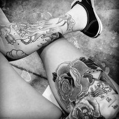 #tattoo #legs #rose