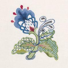 Crewel Embroidery kit - BLUE ELEGANCE