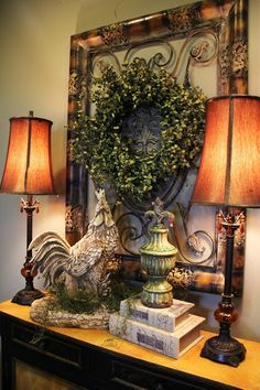 savvi season, vignett, french country, french countri, entrance halls, rooster, entryway, decor idea, tuscan style