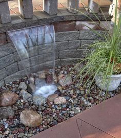 Pondless waterfall, a great low impact water feature
