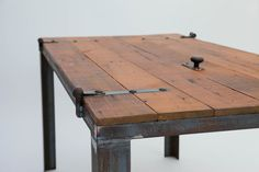 Old Barn Door DESK / TABLE coffee tables, barn doors, door tabl, desks, workbench, furnitur, door desk, barn wood, old barns