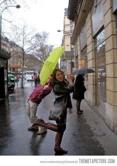 Photobomb in the rain…