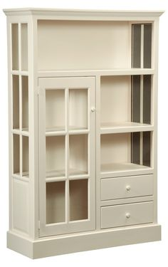 "Cape Cod Kitchen Cupboard is handmade by the Amish.  Your piece will be built with Premium Grade Eastern White Pine wood.  You will see some deformities and knots that come naturally with eastern pine.  Measures: 46"" H x 71"" W x 18"" D Shown in Country White"