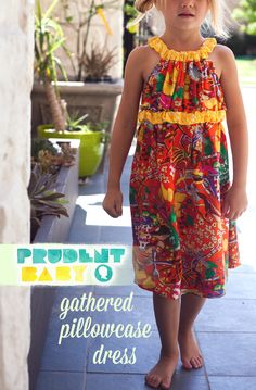 """Gathered """"Pillowcase"""" Dress with tutorial and pattern"""