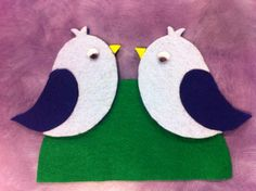 What Happens In Storytime...: Flannel Friday - Two Little Bluebirds