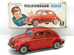 Antique Tin Toy Battery operated VW