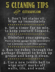 5 helpful cleaning tips!