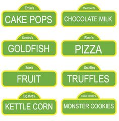 cute food labels
