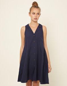 S/Less Shirt Dress (navy)