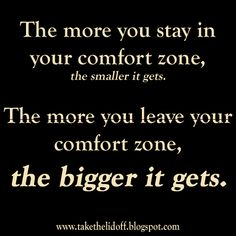The comfort zone paradox.