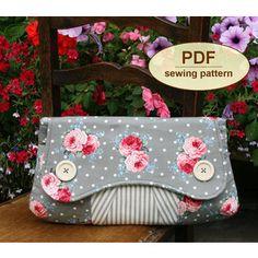 purs, clutches, clutch pattern, bolso, sew pattern, casablanca clutch, diy, clutch bags, sewing patterns