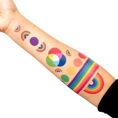 rainbow set, tattoo rainbow, tattoo set, tattoos, rainbows, temporari tattoo, tatt rainbow, tattoo design, ink