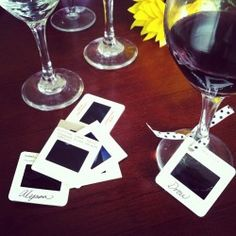 How to make slide wine glass markers for your next event