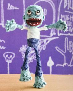 I love this little amigurumi puppet